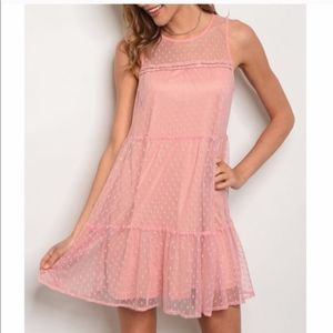 Super Cute Pink Dress with Polka Dots!